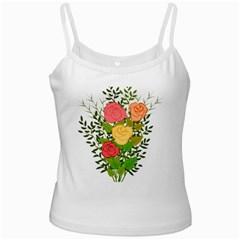Roses Flowers Floral Flowery Ladies Camisoles