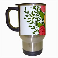 Roses Flowers Floral Flowery Travel Mugs (white)
