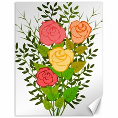 Roses Flowers Floral Flowery Canvas 12  x 16