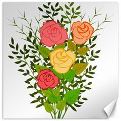 Roses Flowers Floral Flowery Canvas 20  x 20