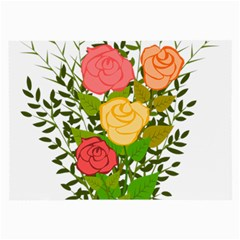 Roses Flowers Floral Flowery Large Glasses Cloth