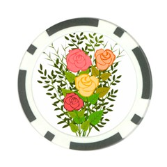 Roses Flowers Floral Flowery Poker Chip Card Guard