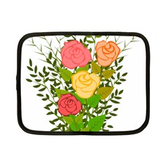 Roses Flowers Floral Flowery Netbook Case (small)