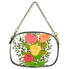 Roses Flowers Floral Flowery Chain Purses (two Sides)