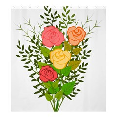 Roses Flowers Floral Flowery Shower Curtain 66  x 72  (Large)