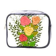 Roses Flowers Floral Flowery Mini Toiletries Bags