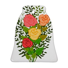 Roses Flowers Floral Flowery Bell Ornament (Two Sides)