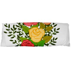 Roses Flowers Floral Flowery Body Pillow Case Dakimakura (Two Sides)
