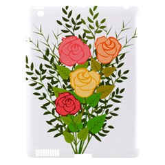 Roses Flowers Floral Flowery Apple iPad 3/4 Hardshell Case (Compatible with Smart Cover)