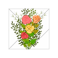 Roses Flowers Floral Flowery Acrylic Tangram Puzzle (4  X 4 )