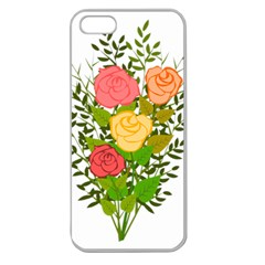 Roses Flowers Floral Flowery Apple Seamless Iphone 5 Case (clear)