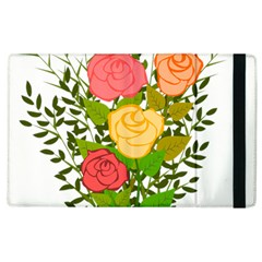 Roses Flowers Floral Flowery Apple Ipad 2 Flip Case