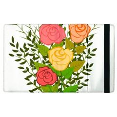 Roses Flowers Floral Flowery Apple Ipad 3/4 Flip Case