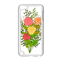 Roses Flowers Floral Flowery Apple Ipod Touch 5 Case (white)