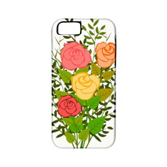 Roses Flowers Floral Flowery Apple Iphone 5 Classic Hardshell Case (pc+silicone)