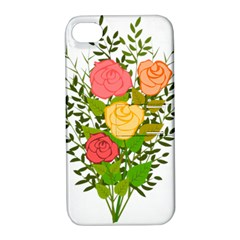 Roses Flowers Floral Flowery Apple iPhone 4/4S Hardshell Case with Stand