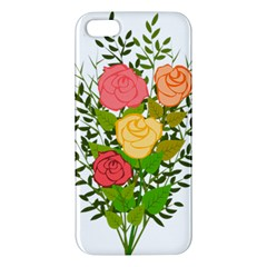 Roses Flowers Floral Flowery Apple Iphone 5 Premium Hardshell Case