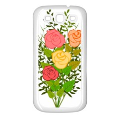 Roses Flowers Floral Flowery Samsung Galaxy S3 Back Case (white)