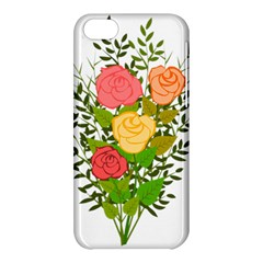 Roses Flowers Floral Flowery Apple Iphone 5c Hardshell Case