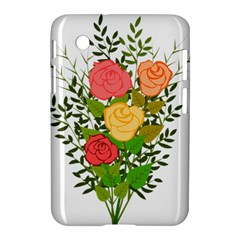 Roses Flowers Floral Flowery Samsung Galaxy Tab 2 (7 ) P3100 Hardshell Case