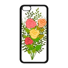 Roses Flowers Floral Flowery Apple Iphone 5c Seamless Case (black)