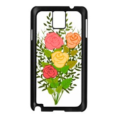Roses Flowers Floral Flowery Samsung Galaxy Note 3 N9005 Case (black)