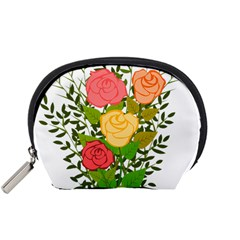 Roses Flowers Floral Flowery Accessory Pouches (small)