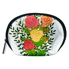 Roses Flowers Floral Flowery Accessory Pouches (Medium)