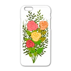 Roses Flowers Floral Flowery Apple Iphone 6/6s White Enamel Case