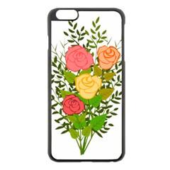 Roses Flowers Floral Flowery Apple iPhone 6 Plus/6S Plus Black Enamel Case