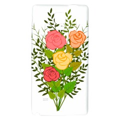 Roses Flowers Floral Flowery Galaxy Note 4 Back Case