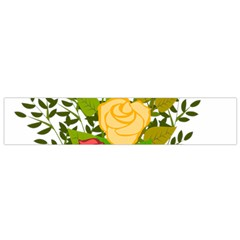 Roses Flowers Floral Flowery Flano Scarf (small)