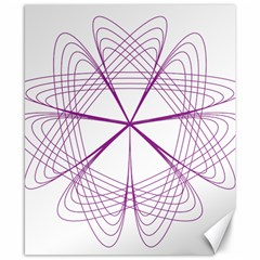 Purple Spirograph Pattern Circle Geometric Canvas 8  x 10