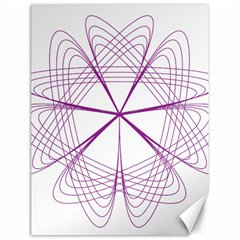 Purple Spirograph Pattern Circle Geometric Canvas 18  x 24