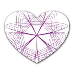 Purple Spirograph Pattern Circle Geometric Heart Mousepads