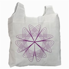 Purple Spirograph Pattern Circle Geometric Recycle Bag (two Side)
