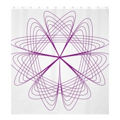 Purple Spirograph Pattern Circle Geometric Shower Curtain 66  x 72  (Large)