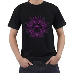 Purple Spirograph Pattern Circle Geometric Men s T Shirt (black)