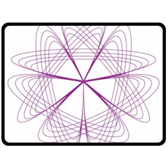 Purple Spirograph Pattern Circle Geometric Fleece Blanket (large)