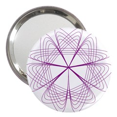 Purple Spirograph Pattern Circle Geometric 3  Handbag Mirrors