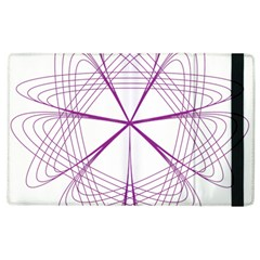 Purple Spirograph Pattern Circle Geometric Apple iPad 3/4 Flip Case