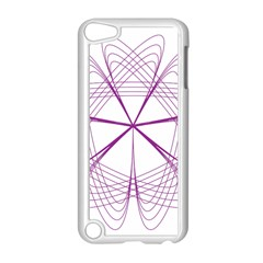 Purple Spirograph Pattern Circle Geometric Apple Ipod Touch 5 Case (white)