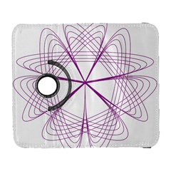 Purple Spirograph Pattern Circle Geometric Galaxy S3 (Flip/Folio)