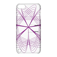 Purple Spirograph Pattern Circle Geometric Apple iPod Touch 5 Hardshell Case with Stand