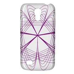 Purple Spirograph Pattern Circle Geometric Galaxy S4 Mini