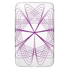 Purple Spirograph Pattern Circle Geometric Samsung Galaxy Tab 3 (8 ) T3100 Hardshell Case