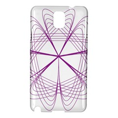 Purple Spirograph Pattern Circle Geometric Samsung Galaxy Note 3 N9005 Hardshell Case