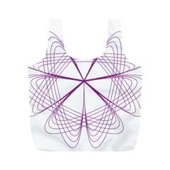 Purple Spirograph Pattern Circle Geometric Full Print Recycle Bags (m)