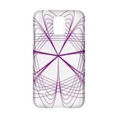 Purple Spirograph Pattern Circle Geometric Samsung Galaxy S5 Hardshell Case