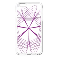 Purple Spirograph Pattern Circle Geometric Apple Iphone 6 Plus/6s Plus Enamel White Case